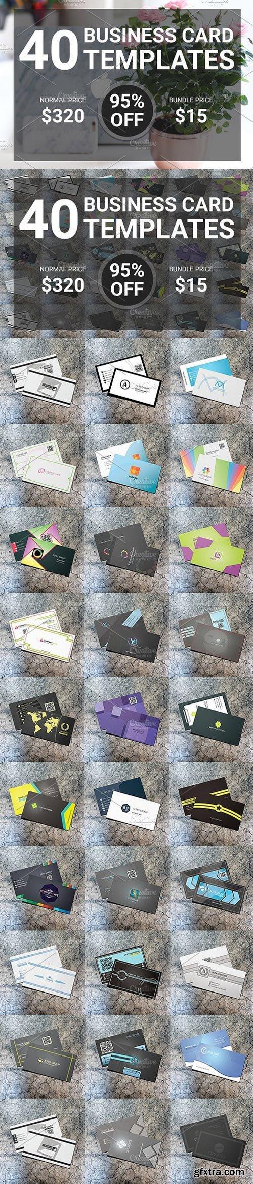 CM - 40 Flat Business Card Bundle 1290193