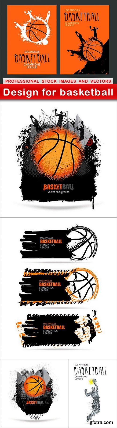 Design for basketball - 5 EPS