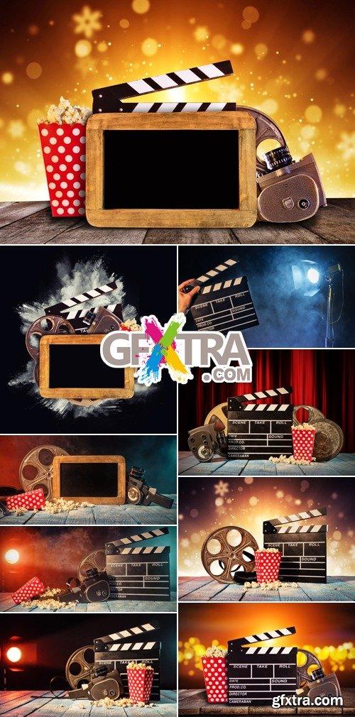 Stock Photo - Retro Film Production Accessories