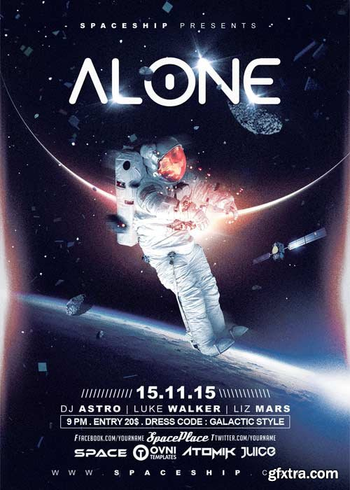 Alone In The Space V5 Flyer Template