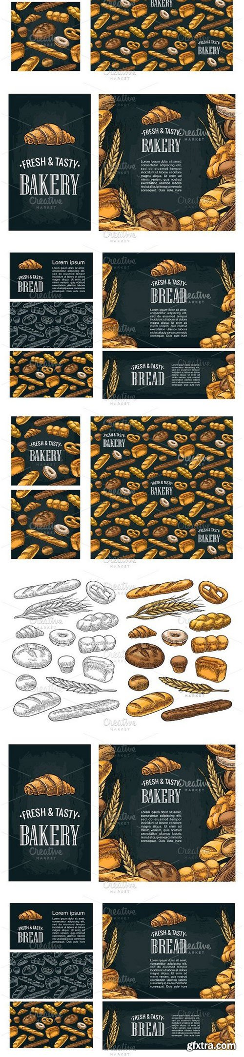 CM - Bundle of sets of bakery, bread 1270185