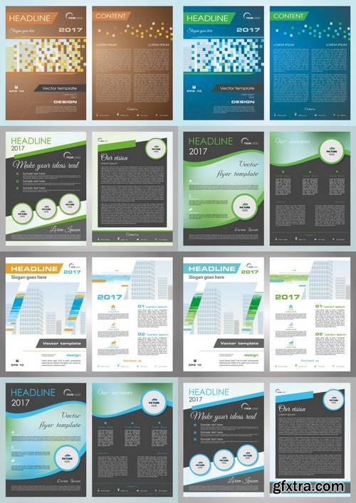 Vector Flyer, Corporate Business, Annual Report, Brochure Design