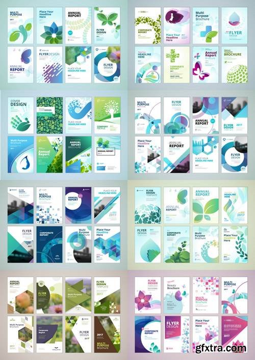 Brochure, Annual Report, Flyer Design Templates in A4 Size
