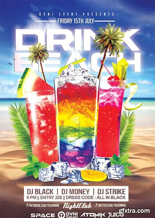 DRINK BEACH V21 Flyer Template