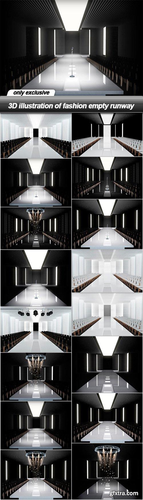 3D illustration of fashion empty runway - 16 UHQ JPEG