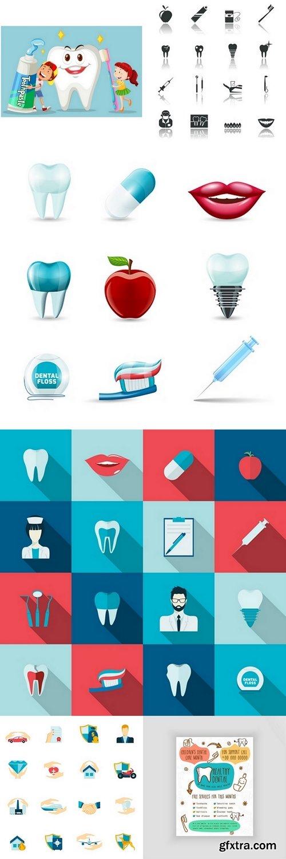 Dental vector care background design Premium Vector