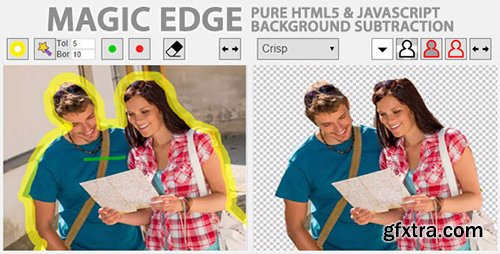 CodeCanyon - Magic Edge v1.2.0 - Pure JavaScript Background Remover - 9535411