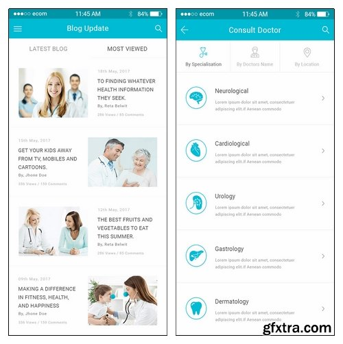 Well Care - Medical & Health Care Mobile PSD APP