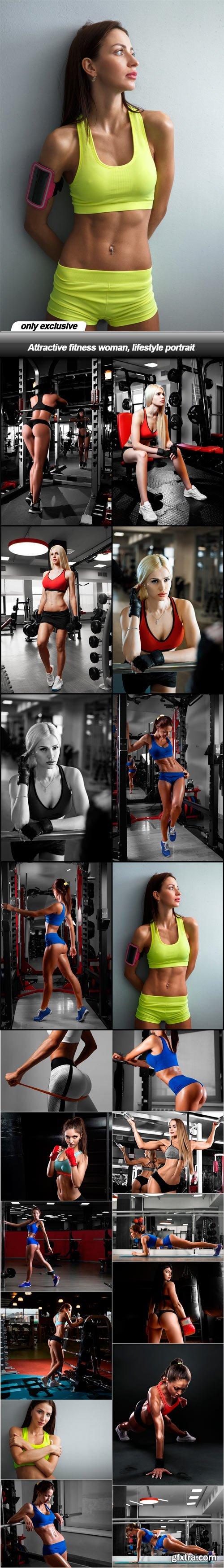 Attractive fitness woman, lifestyle portrait - 20 UHQ JPEG