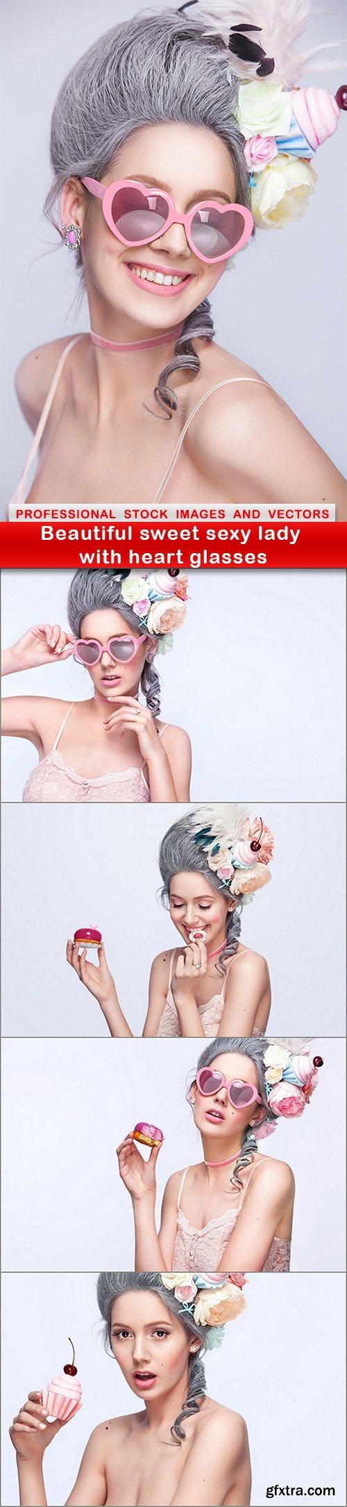 Beautiful sweet sexy lady with heart glasses - 5 UHQ JPEG