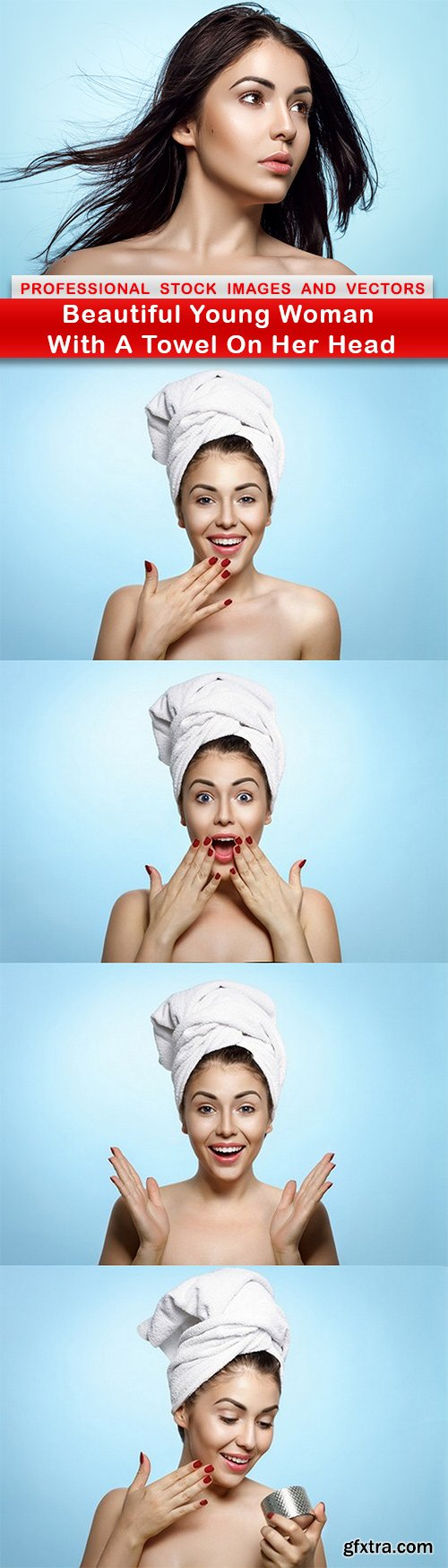 Beautiful Young Woman With A Towel On Her Head - 5 UHQ JPEG
