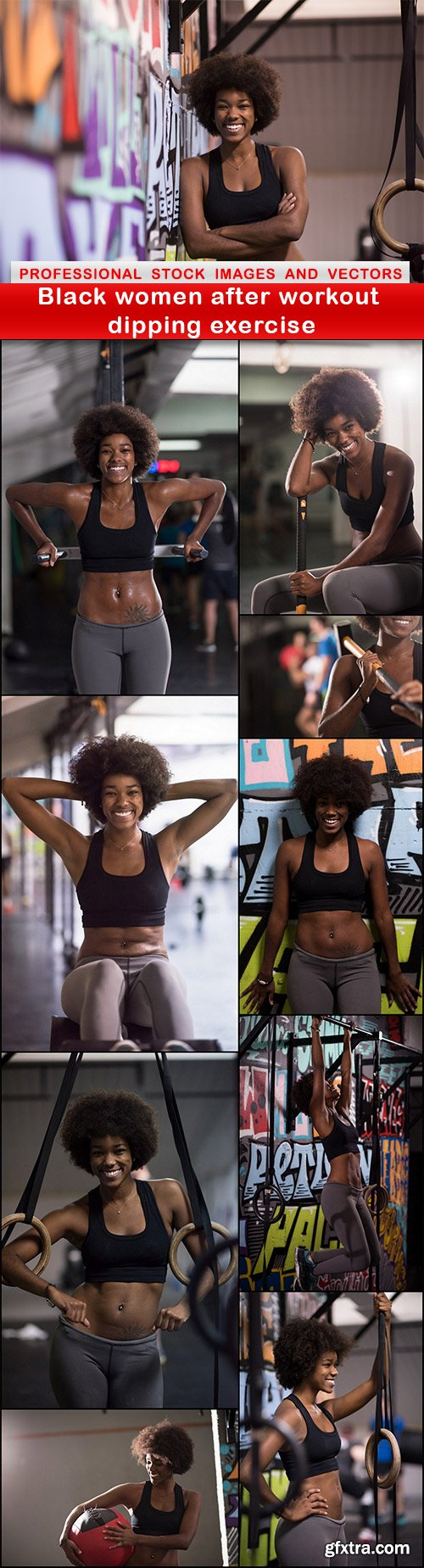 Black women after workout dipping exercise - 10 UHQ JPEG