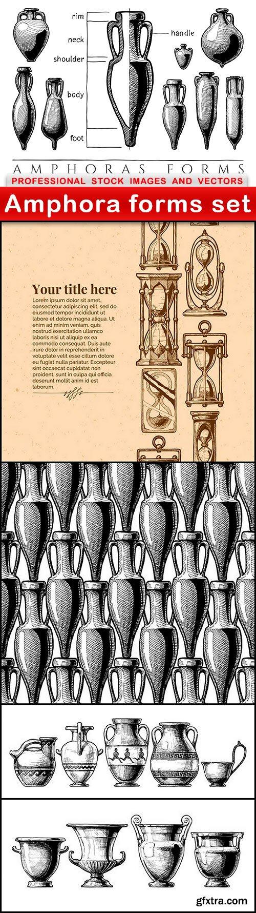 Amphora forms set - 5 EPS