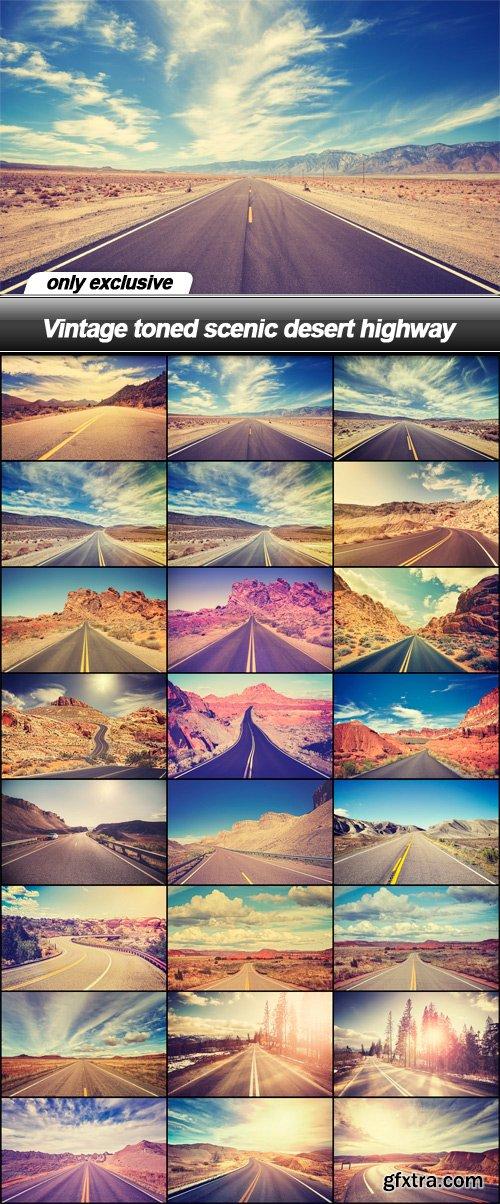 Vintage toned scenic desert highway - 25 UHQ JPEG