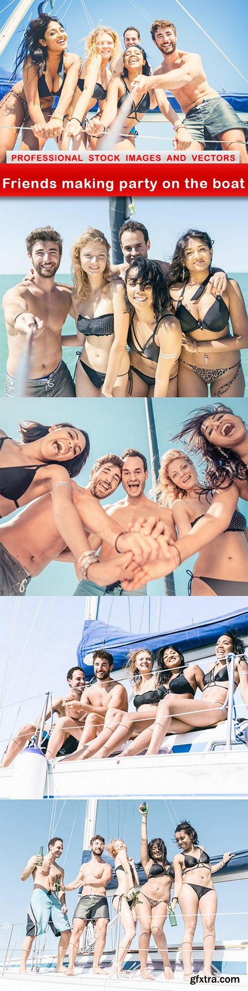 Friends making party on the boat - 5 UHQ JPEG