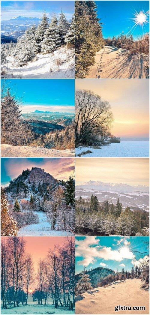 Winter mountain landscape 8X JPEG