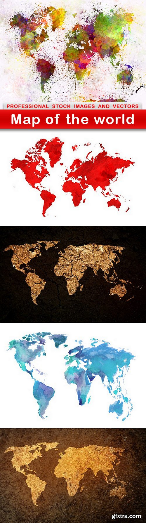 Map of the world - 5 UHQ JPEG