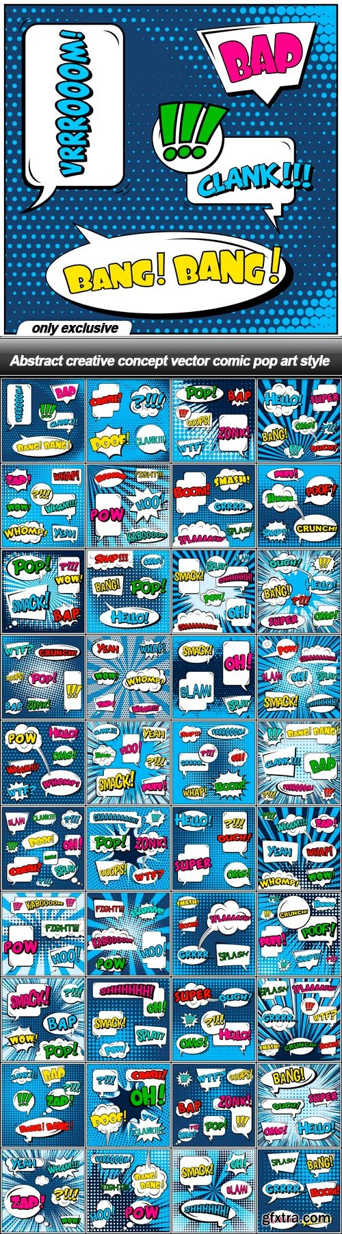 Abstract creative concept vector comic pop art style - 112 EPS