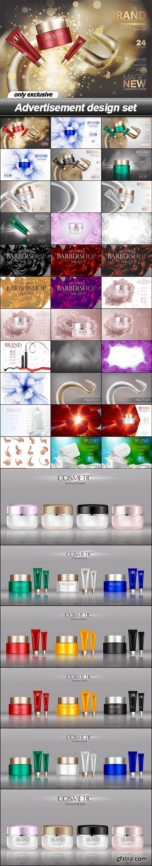 Advertisement design set - 39 EPS