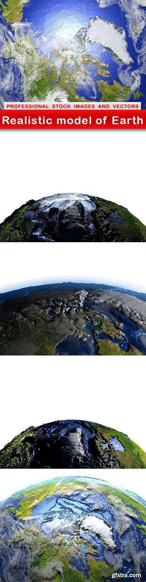 Realistic model of Earth - 5 UHQ JPEG