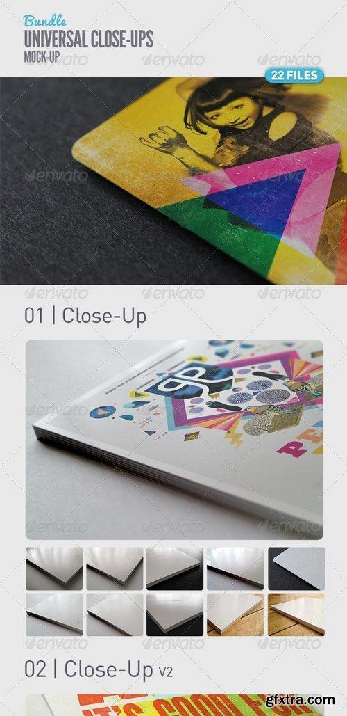 GraphicRiver - Universal Close-Up Mock-Up Bundle 5107291