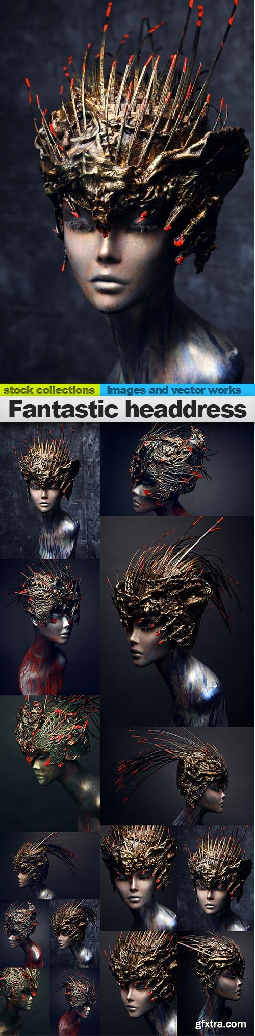 Fantastic headdress, 15 x UHQ JPEG