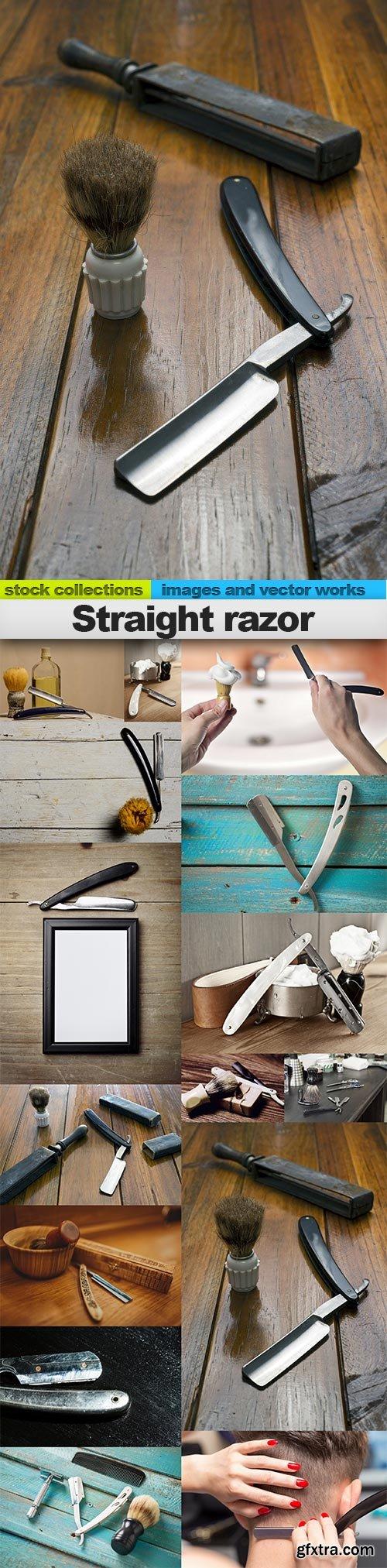 Straight razor, 15 x UHQ JPEG