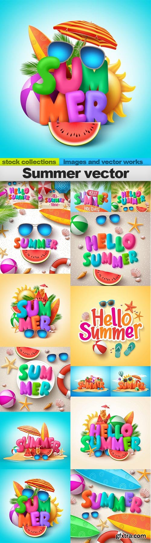 Summer vector, 15 X EPS