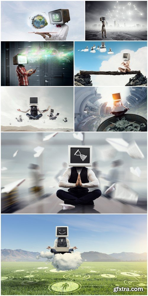 Problem of television addiction 8X JPEG