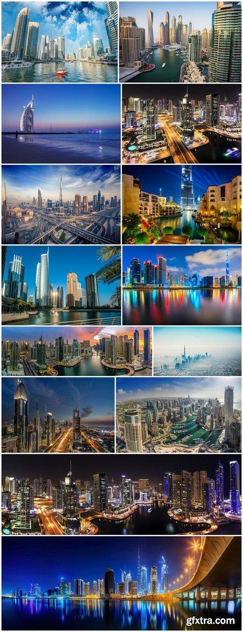 Buildings and skyline of Dubai 14X JPEG