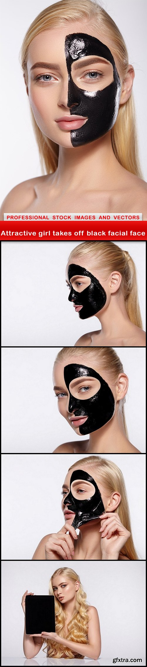 Attractive girl takes off black facial face - 5 UHQ JPEG
