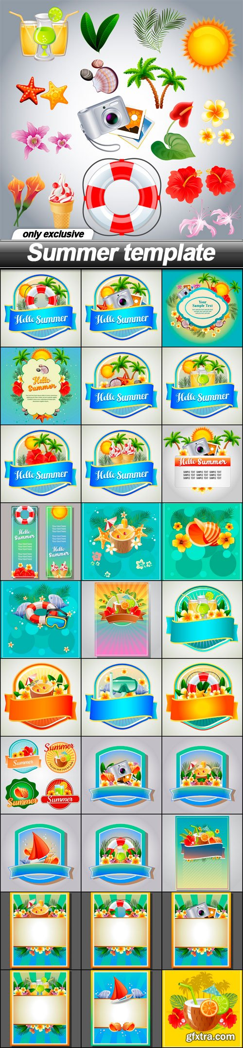 Summer template - 31 EPS
