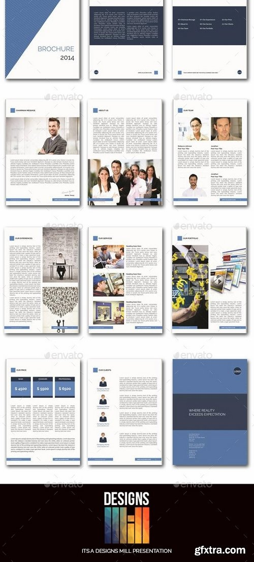 GraphicRiver - The Blue Brochure 8931495