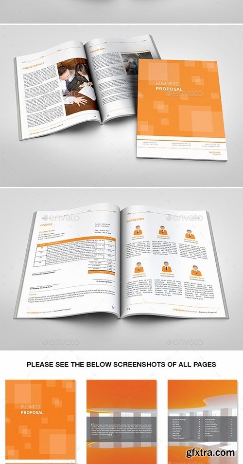 GraphicRiver - The Simple Orange Proposal 9189581