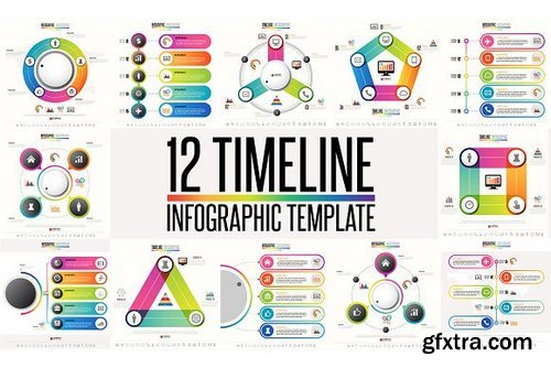 CM - 12 Timeline & Infographic Template 4 1277292