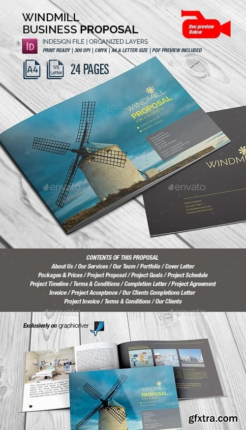 GraphicRiver - Windmill Multipurpose Lanscape Proposal 8802212