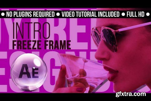 Intro Freeze Frame After Effects Templates
