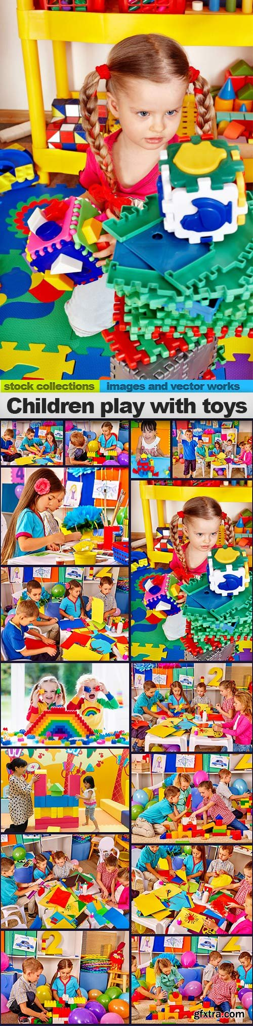 Children play with toys, 15 x UHQ JPEG