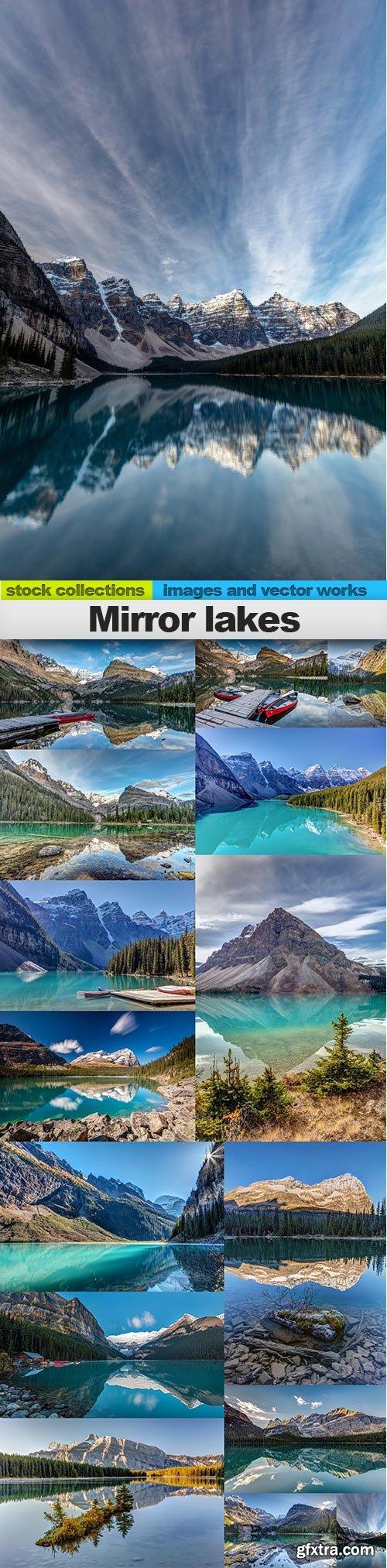 Mirror lakes, 15 x UHQ JPEG