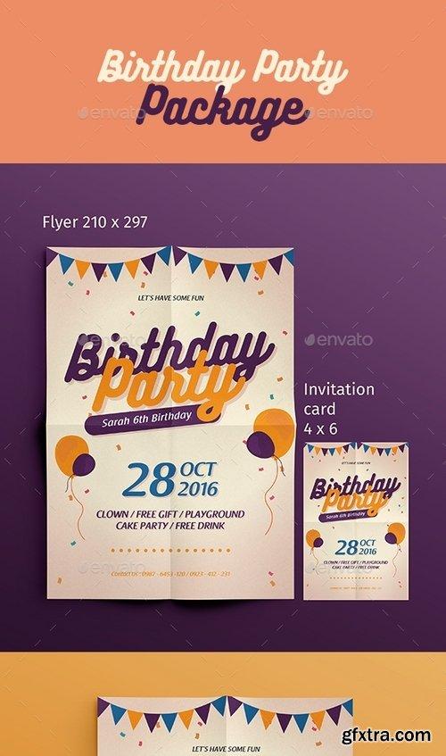 GraphicRiver - Birthday Flyer + Invitation 16167221