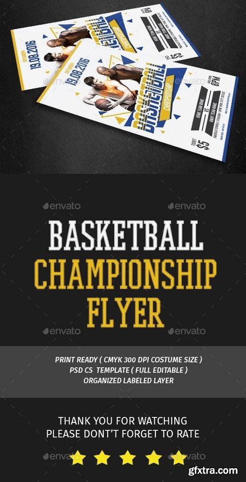 GraphicRiver - Basketball Flyer 16139307