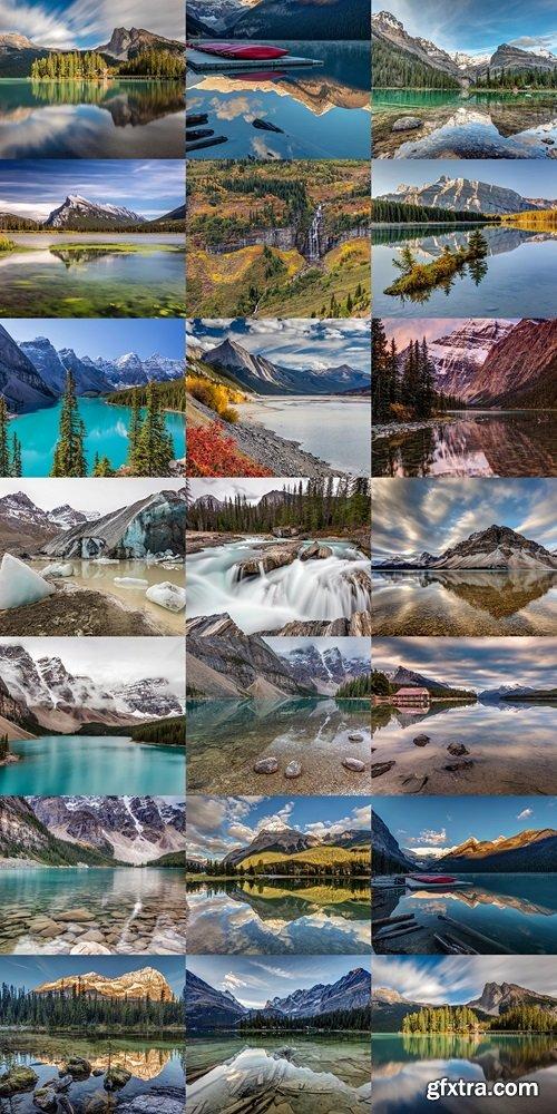 Lake O'Hara Daydream. Long exposure at Lake O'Hara in Yoho National Park, British Columbia, Canada