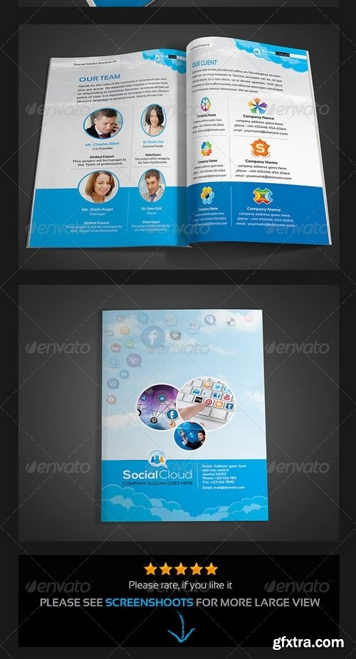 GraphicRiver - Social Cloud Social Media 12 Pages Brochure 5742910