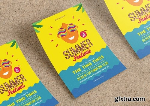 GraphicRiver - Summer festival flyer 15349110