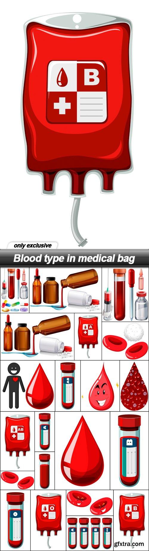 Blood type in medical bag - 21 EPS