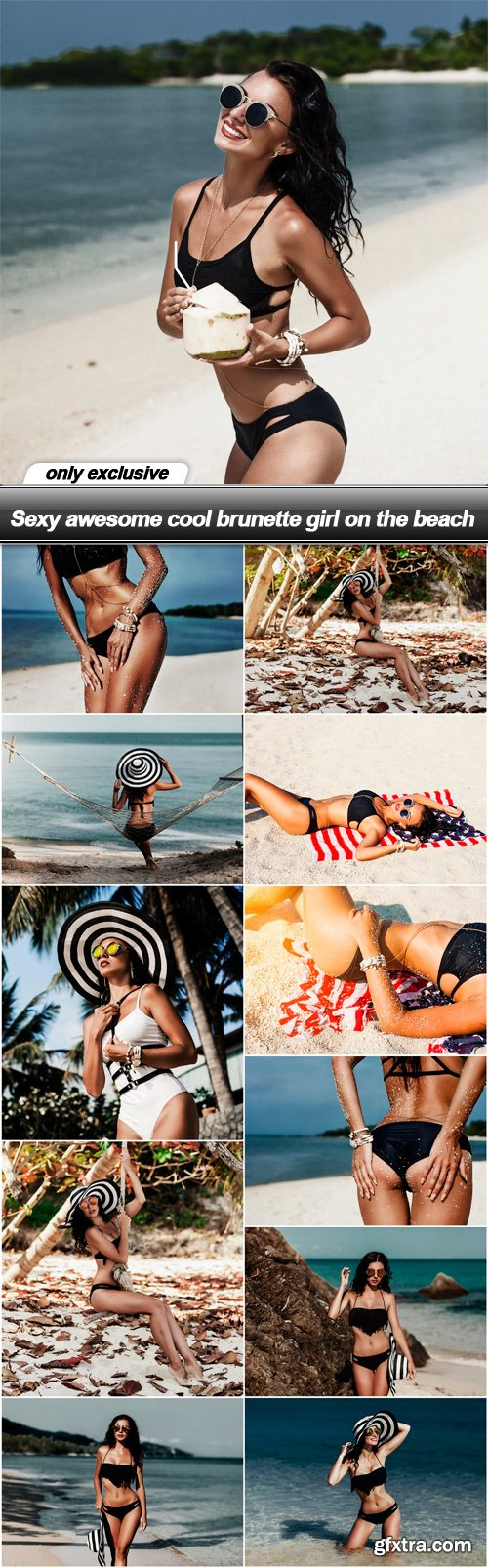 Sexy awesome cool brunette girl on the beach - 12 UHQ JPEG