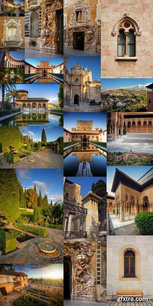 Alhambra patio with pool, Granada, Spain
