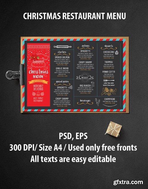 GraphicRiver - Christmas Menu Restaurant 13434632