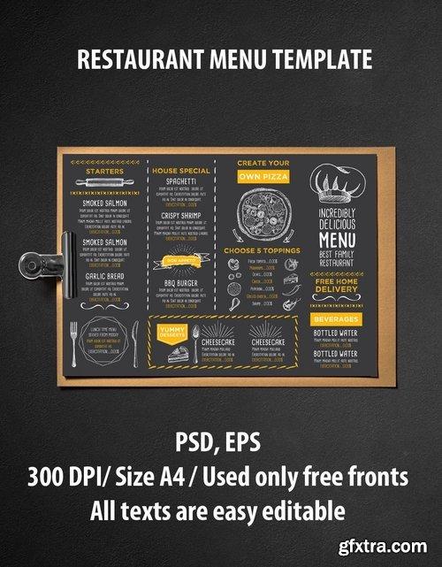 GraphicRiver - Menu Restaurant Template 14521839