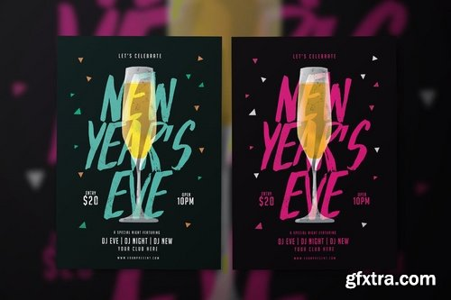 GraphicRiver - New Year Flyer 19077403